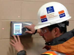 MTC employee using ground penetrating radar
