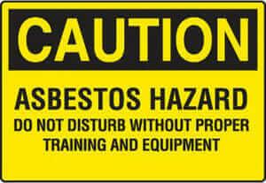 Asbestos Hazard Caution safety sign